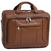 McKlein USA River West S Series Brown Pebble Grain Calfskin Leather Laptop Case (15714)