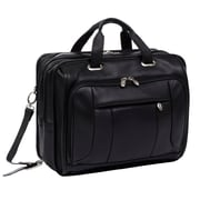 McKlein USA River West S Series Black Pebble Grain Calfskin Leather Laptop Case (15715)