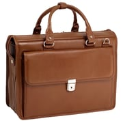 McKlein USA Gresham S Series Brown Pebble Grain Calfskin Leather Litigator Laptop Brief (15974)