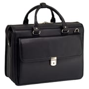 McKlein USA Gresham S Series Black Pebble Grain Calfskin Leather Litigator Laptop Brief (15975)