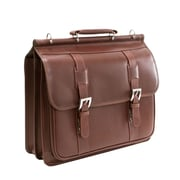 Siamod Signorini Manarola Cognac Oil Pull-Up Leather Double Compartment Laptop Case (25594)