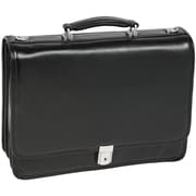 McKlein USA Glen Ellyn W Series Black Top Grain Leather Detachable-Wheeled Ladies Laptop Case (94365)