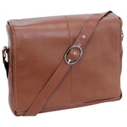 Siamod San Francesco Vernazza Cognac Napa Cashmere Leather Messenger Bag (45354)