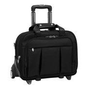 McKlein USA Damen R Series Black Tech-Lite Ballistic Nylon Detachable-Wheeled Laptop Case (70715)
