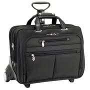 McKlein USA Ohare R Series Black Tech-Lite Ballistic Nylon Detachable Wheeled Laptop Case (76535)
