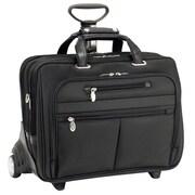McKlein USA Ohare R Series Black Tech-Lite Ballistic Nylon Detachable Wheeled Laptop Case (76535)