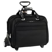McKlein USA Midway R Series Black Tech-Lite Ballistic Nylon Detachable Wheeled Laptop Case (76605)
