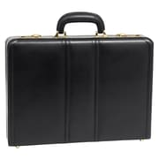 McKlein USA Daley V Series Black Full Grain Cowhide Leather Attache (80435)
