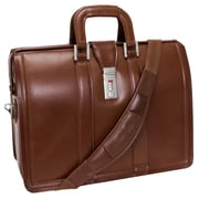 McKlein USA Morgan V Series Brown Full Grain Cowhide Leather Laptop Case (83344)