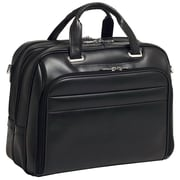 McKlein USA Springfield R Series Black Full Grain Cowhide Leather Laptop Case (86595)