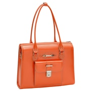 McKlein USA River Forest W Series Orange Top Grain Leather Ladies Laptop Case (96500)