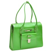 McKlein USA River Forest W Series Green Top Grain Leather Ladies Briefcase (96501)