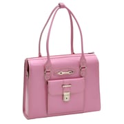 McKlein USA River Forest W Series Pink Top Grain Leather Ladies Laptop Case (96509)