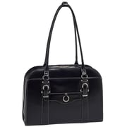 McKlein USA Hillside W Series Black Top Grain Leather Ladies Briefcase (96525)