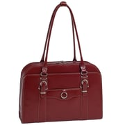 McKlein USA Hillside W Series Red Top Grain Leather Ladies Briefcase (96526)
