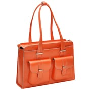 McKlein USA Alexis W Series Orange Top Grain Leather Ladies Briefcase (96540)