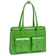 McKlein USA Alexis W Series Green Top Grain Leather Ladies Briefcase (96541)