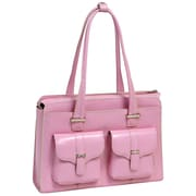 McKlein USA Alexis W Series Pink Top Grain Leather Ladies Briefcase (96549)