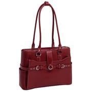 McKlein USA Willow Springs W Series Red Top Grain Leather Ladies Briefcase (96566)