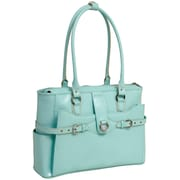 McKlein USA Willow Springs W Series Aqua Blue Top Grain Leather Ladies Briefcase (96568)