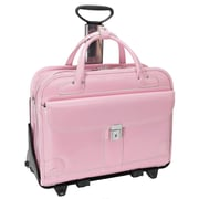McKlein USA Lakewood W Series Pink Top Grain Leather Detachable-Wheeled Ladies Briefcase (96619)