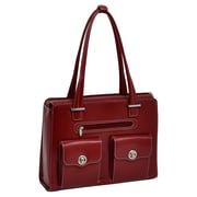 McKlein USA Verona W Series Red Top Grain Leather Ladies Briefcase (96626)