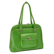 McKlein USA Avon W Series Green Top Grain Leather Ladies Briefcase (96651)