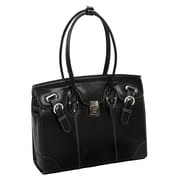 McKlein USA Leclaire W Series Black Top Grain Leather Ladies Tote (96875)