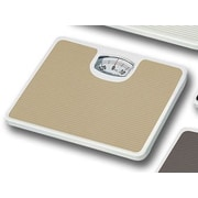 Home Basics Non-Skid Bathroom Mechanical Digital Scale; Tan