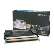 Lexmark C734, C736, X734, X736, X738 Black Return Program Toner Cartridge (C734A1KG)