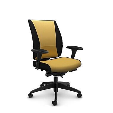 Takori High Back Synchro Knee Tilter, 'Imprint - Currie' Fabric, Yellow