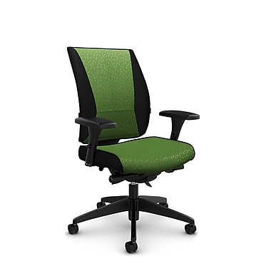Takori High Back Synchro Knee Tilter, 'Match - Green' Fabric, Green
