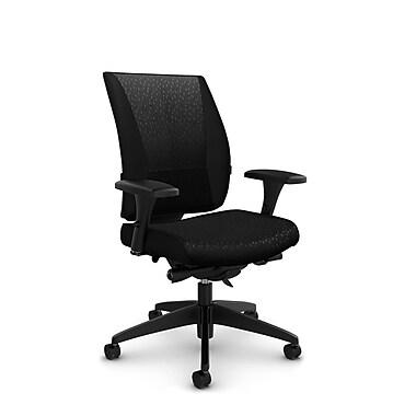 Takori High Back Synchro Knee Tilter, 'Match - Black' Fabric, Black