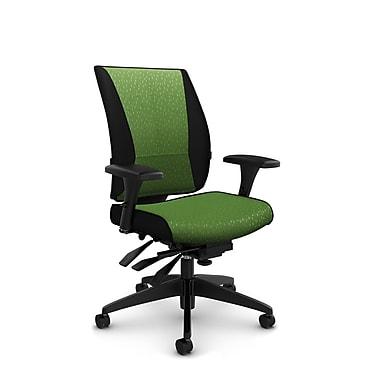Takori – Fauteuil à inclinaison multiple à dossier haut, tissu Match vert, vert