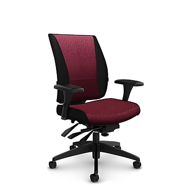 Takori High Back Multi Tilter, 'Match - Burgundy' Fabric, Red