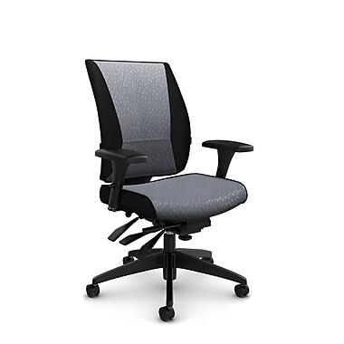 Takori – Fauteuil à inclinaison multiple à dossier haut, tissu Match gris, gris