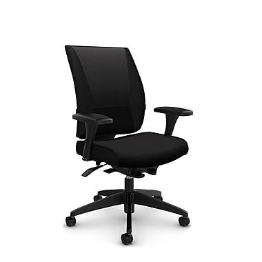 Takori High Back Weight Sensing Synchro Tilter, 'Imprint - Licorice' Fabric, Black