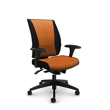 Takori – Fauteuil à inclinaison synchronisée à détection du poids à dossier haut, tissu Match orange, orange