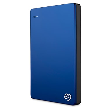 Seagate® Backup Plus Slim STDR1000102 1TB USB 3.0 Portable Drive, Blue