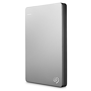 Seagate® Backup Plus Slim For Mac STDS1000100 1TB USB 3.0 Portable Drive, Silver/Black