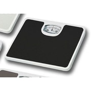 Home Basics Non-Skid Bathroom Mechanical Digital Scale; Black
