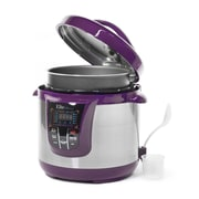 Elite by Maxi-Matic Bistro 8-Quart Electric Stainless Steel Pressure Cooker; Purple Plum