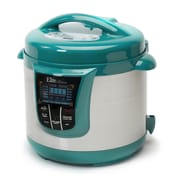 Elite by Maxi-Matic Bistro 8-Quart Electric Stainless Steel Pressure Cooker; Turquoise