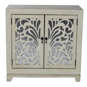 Heather Ann 2 Door Accent Cabinet; Ivory