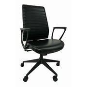 Eurotech Seating Frasso High-Back Leather Executive Office Chair with Tilt Lock; Loop