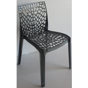 Bienal Gruvyer Side Chair (Set of 4); Transparent Black