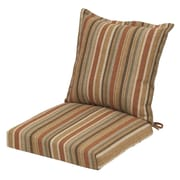 Plantation Patterns Cayenne Stripe Outdoor Deep Seating Chair Cushion