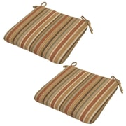Plantation Patterns Cayenne Outdoor Dining Chair Cushion (Set of 2)