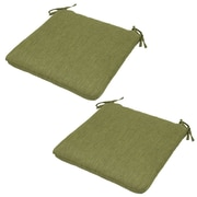 Plantation Patterns Outdoor Dining Chair Cushion (Set of 2); Green
