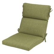 Plantation Patterns Outdoor High Back Chair Cushion; Green